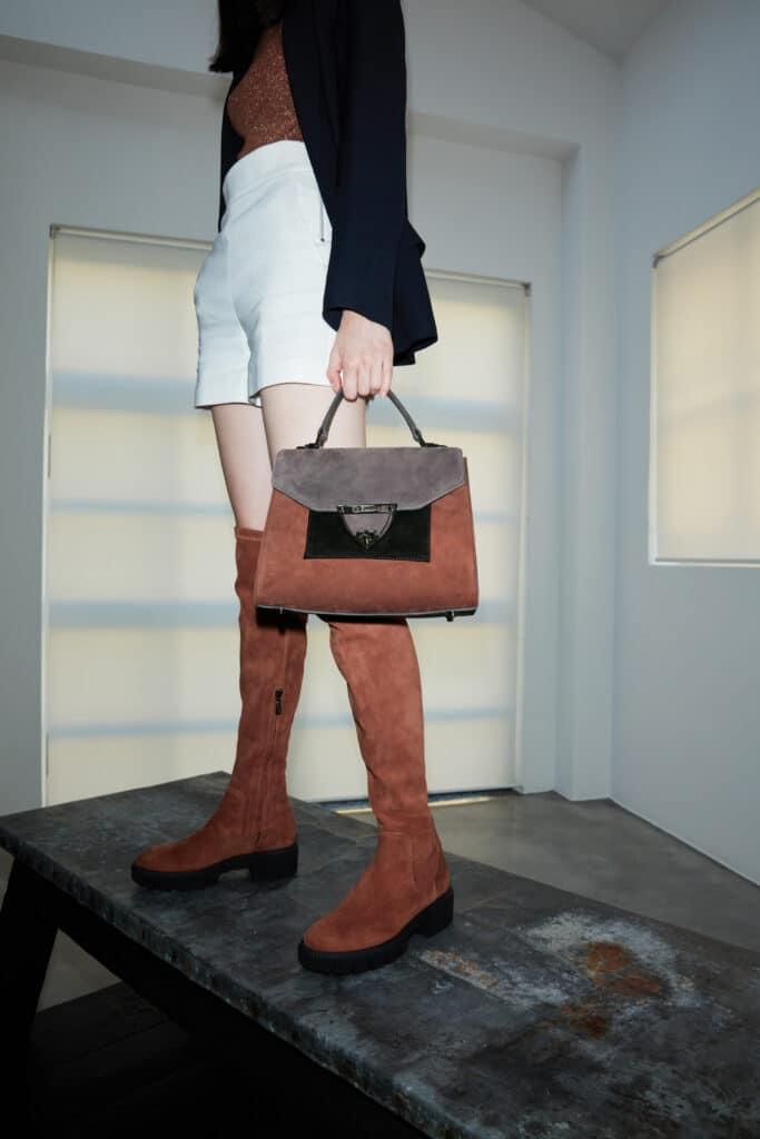 stivali e borsa firmati baldinini