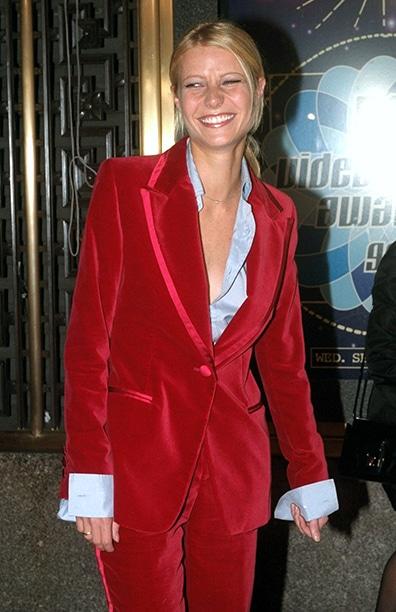 tuxedo velluto Gwyneth Paltrow MTV
