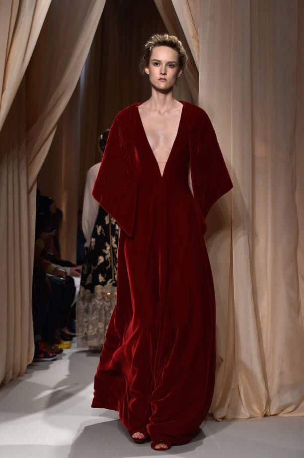 abito donna in velluto di Valentino