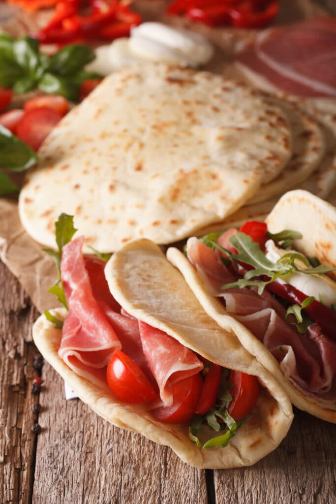 piadina romagnola made in italy