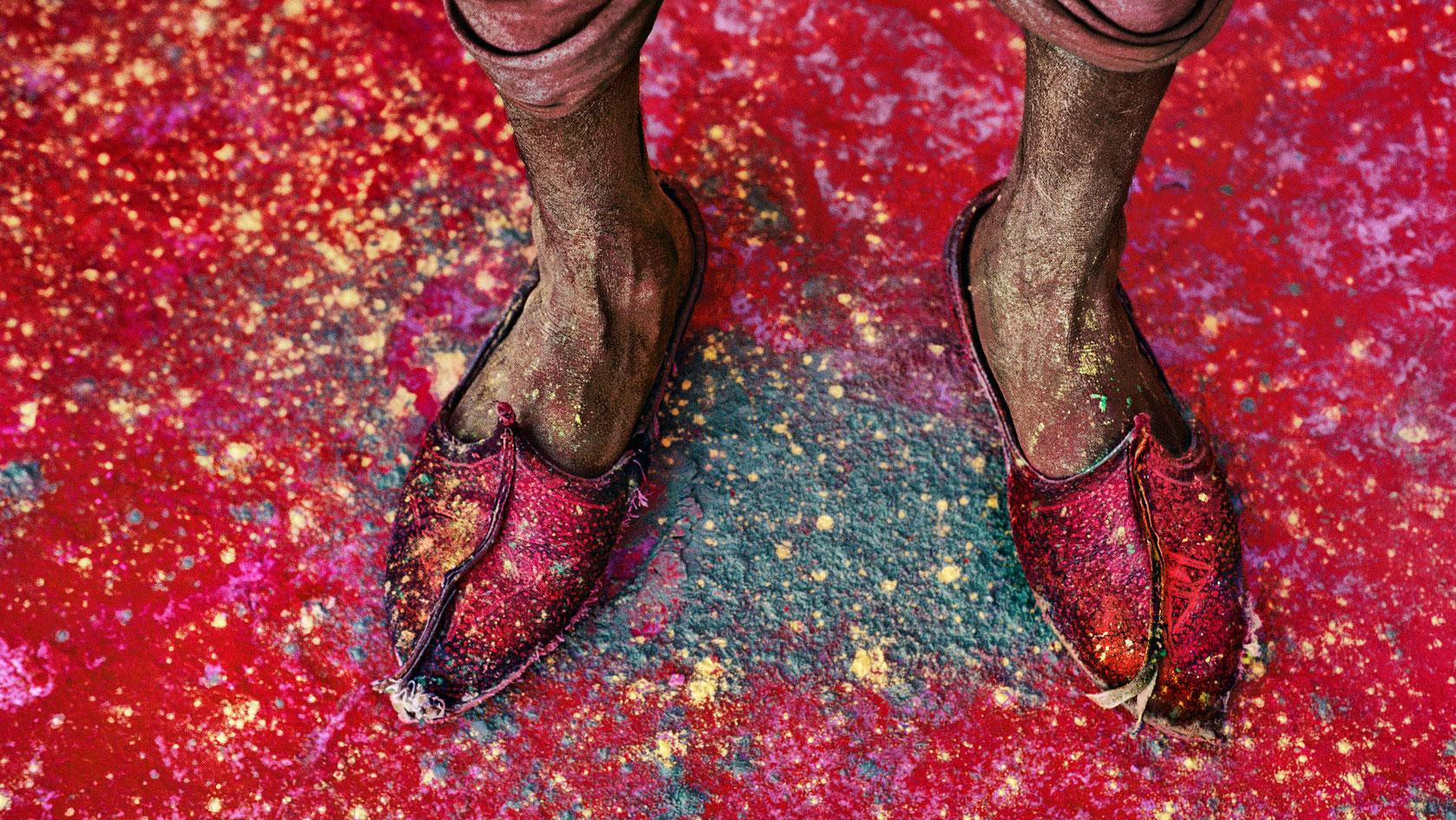 Scarpe india fotografia di viaggio