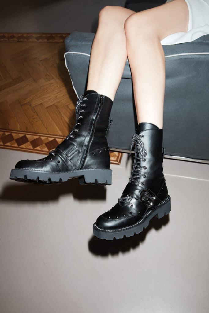 stivali baldinini combat boots