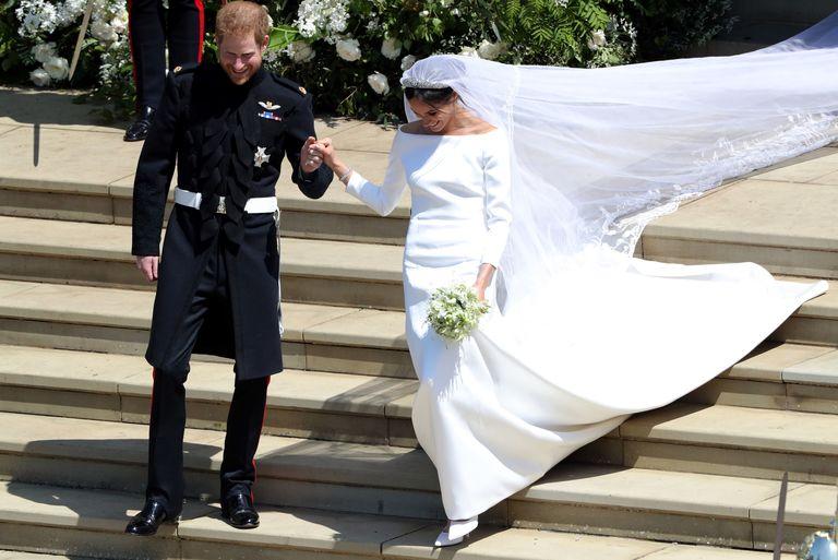 scarpe da sposa Meghan Markle Getty Images